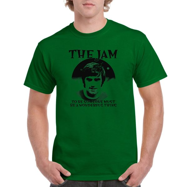 The Jam 'George Best' - T-Shirt (Northern Ireland & Manchester United Legend - Green)