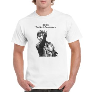 Up Yours Boris 'The North Remembers' Kes T-Shirt (White)