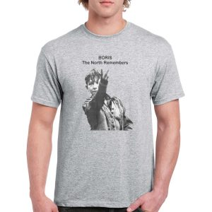 Up Yours Boris 'The North Remembers' Kes T-Shirt (Grey)