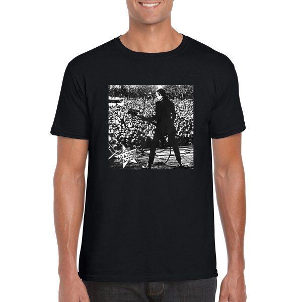 The Clash 'Paul Simonon Rock Against Racism' Iconic Crowd T-Shirt (Black)
