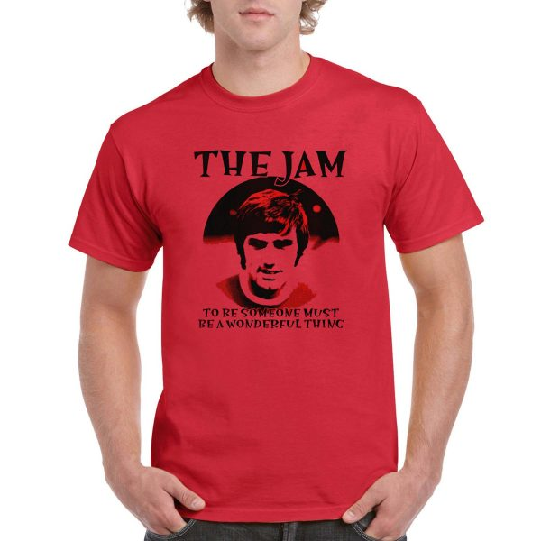 The Jam 'George Best' – T-Shirt (Manchester United Legend – Red)