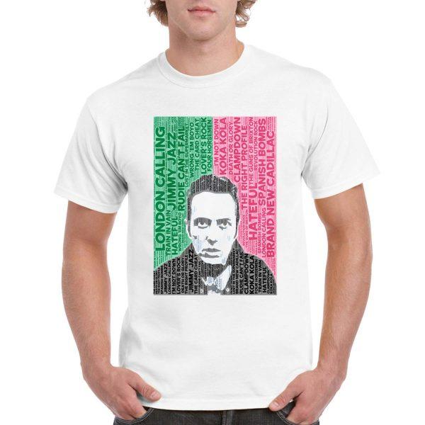 "The Clash – Joe Strummer ""London Calling"" Tracklist T-Shirt (White)"