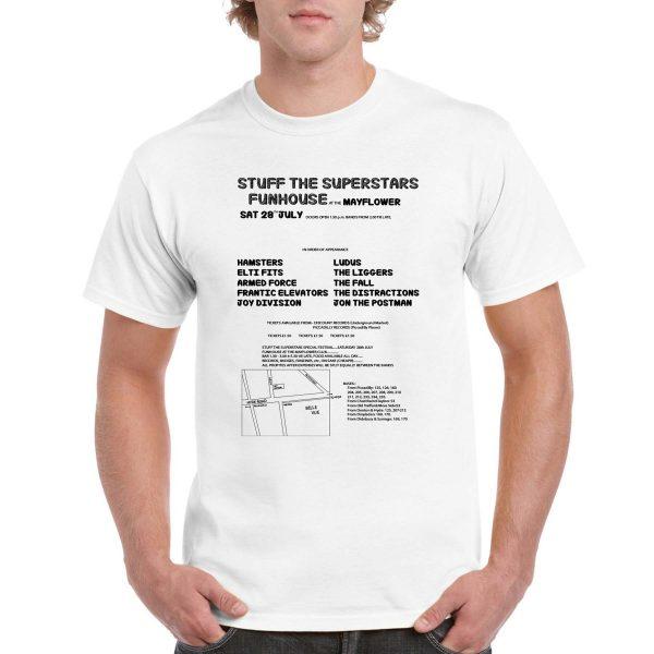 'Stuff the Superstars Funhouse at Mayflower' T-Shirt (Black & White)