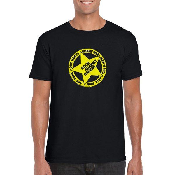Rock Against Racism T-Shirt Rock Against Racism T-Shirt Rock Against Racism T-Shirt 'Rock Against Racism' Logo T-Shirt (Black)