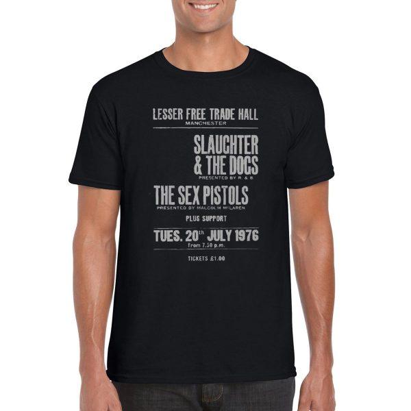 Sex Pistols 'Lesser Free Trade Hall' Tour T-Shirt (Black)