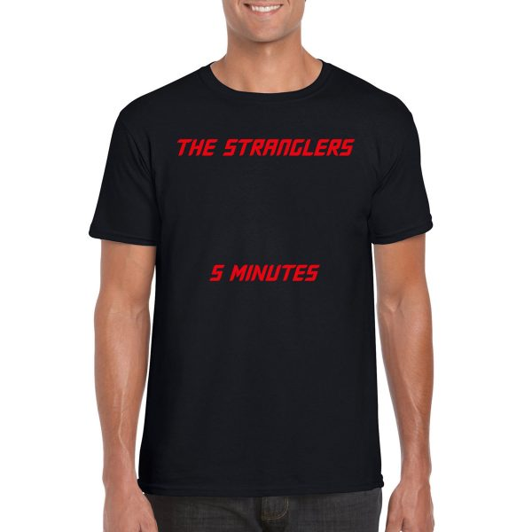 The Stranglers '5 Minutes' Classic Cover T-Shirt (Black)