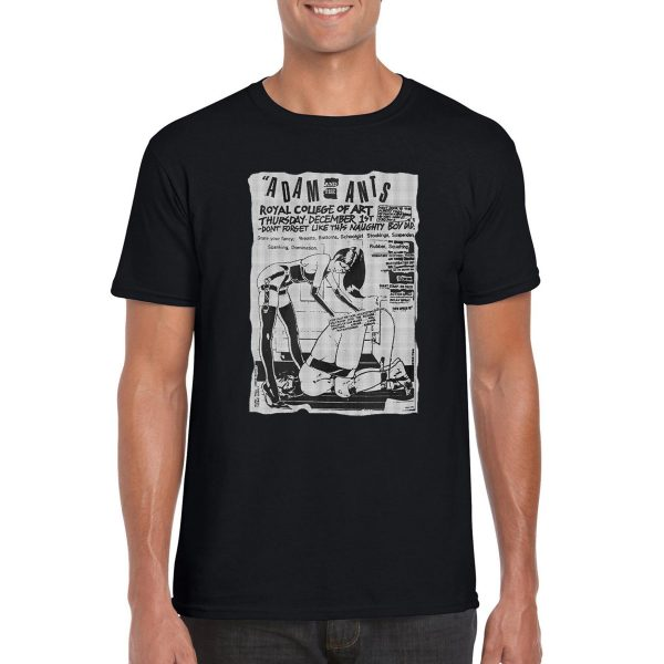 Adam And The Ants 'Royal College Of Art' Poster T-Shirt (Black)