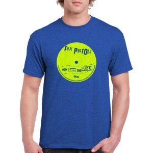 Sex Pistols 'God Save the Queen' Label T-Shirt (Blue)